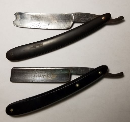 2 old razors Reynolds Sheffield and Rugby.jpg